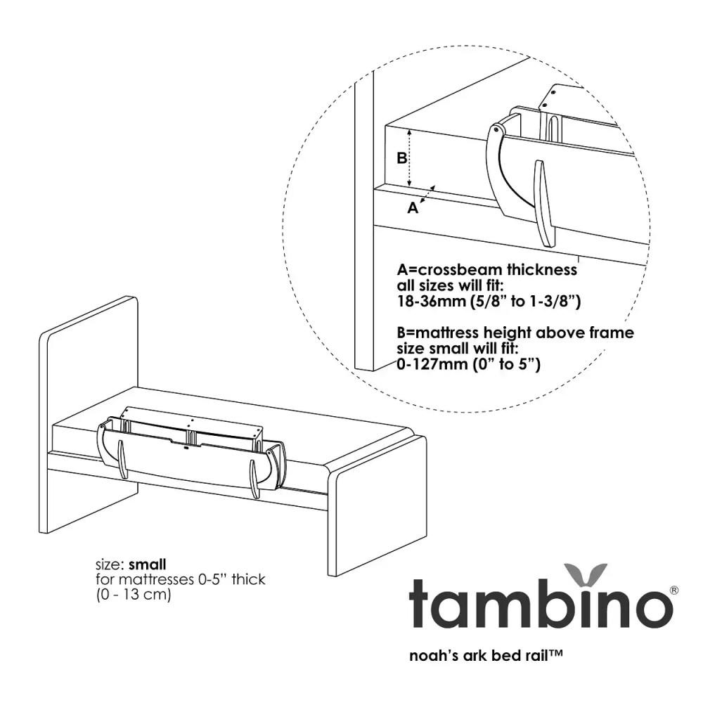 medium resolution of shop tambino noah s ark bed rail free shipping today overstock 7302709