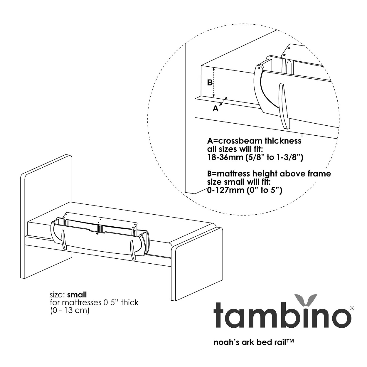 hight resolution of shop tambino noah s ark bed rail free shipping today overstock 7302709