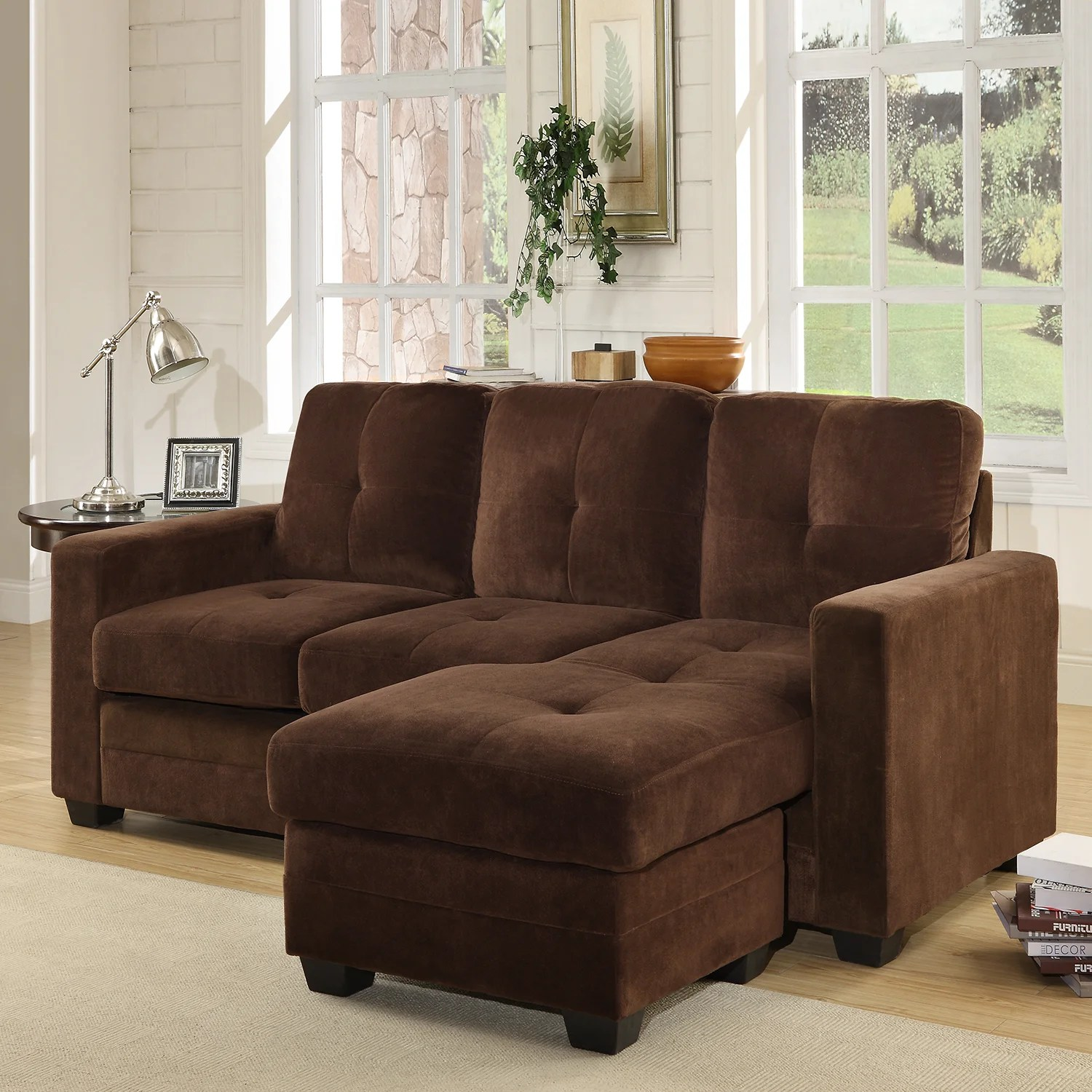 buchanan sofa with chaise most comfortable affordable shop microfiber sectional free shipping today overstock com 7330204