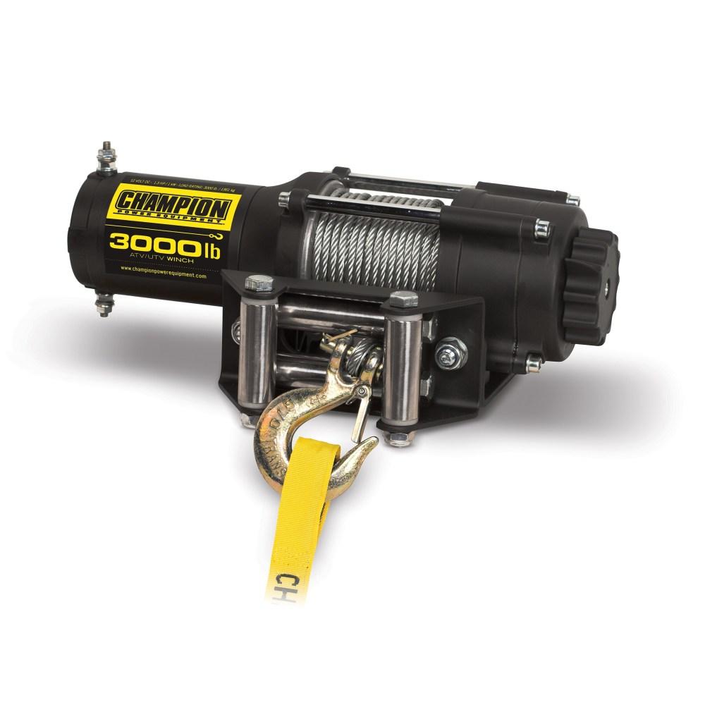 medium resolution of shop champion 3000 lb atv utv winch kit free shipping today overstock 7658724