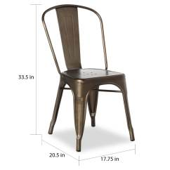 Metal Bistro Chairs Big And Tall Office Chair 500 Lbs Capacity Shop Tabouret Steel Dining Set Of 2 Free Shipping Today Overstock Com 7725495