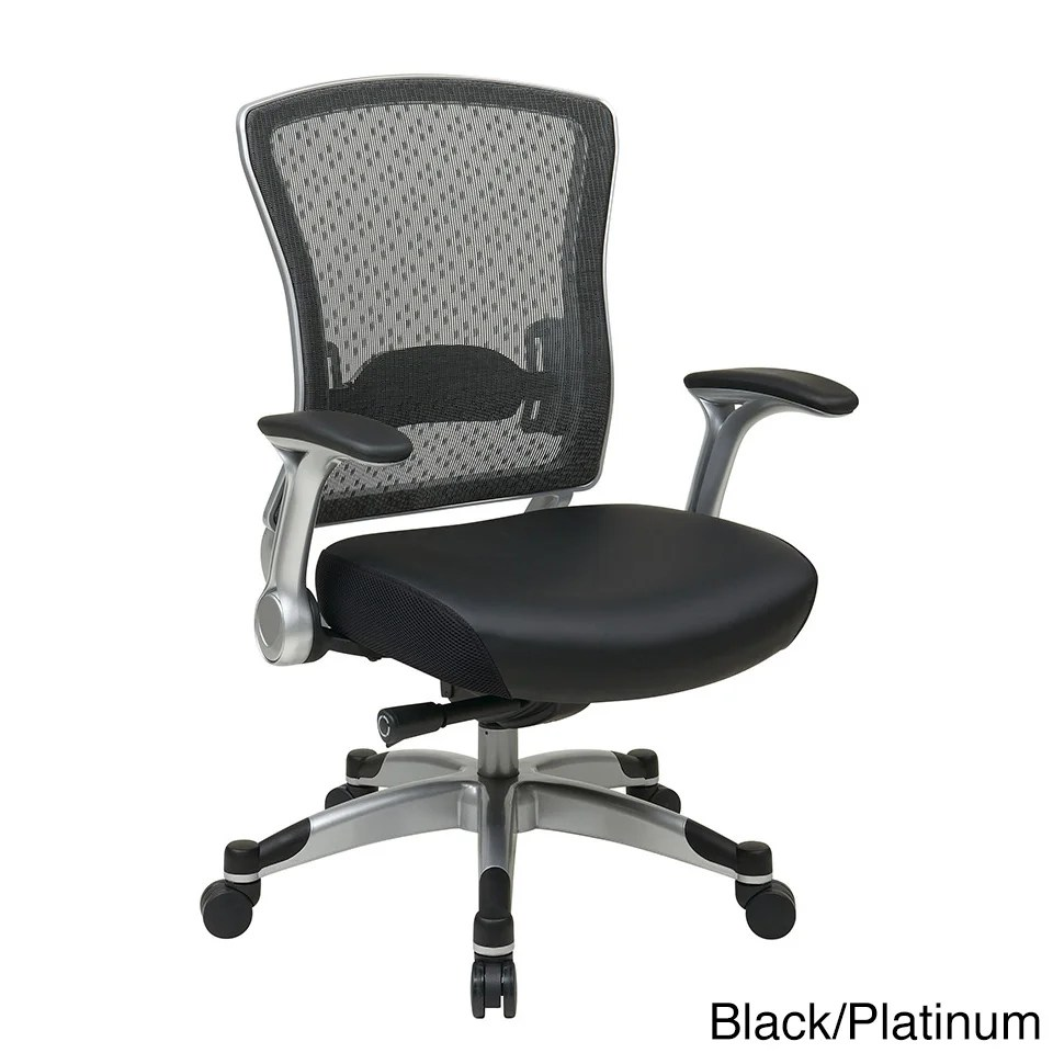 Foam Flip Chair Office Star Spacegrid Back Chair With Memory Foam Seat And Flip Arms