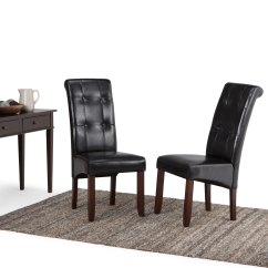 Parson Chairs Wicker Living Room Shop Wyndenhall Essex Tufted Set Of 2 Free