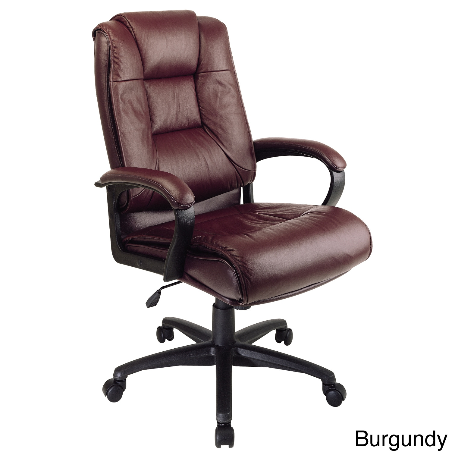 Executive Leather Chair Office Star Work Smart Deluxe Executive Leather Chair With Padded Loop Arms