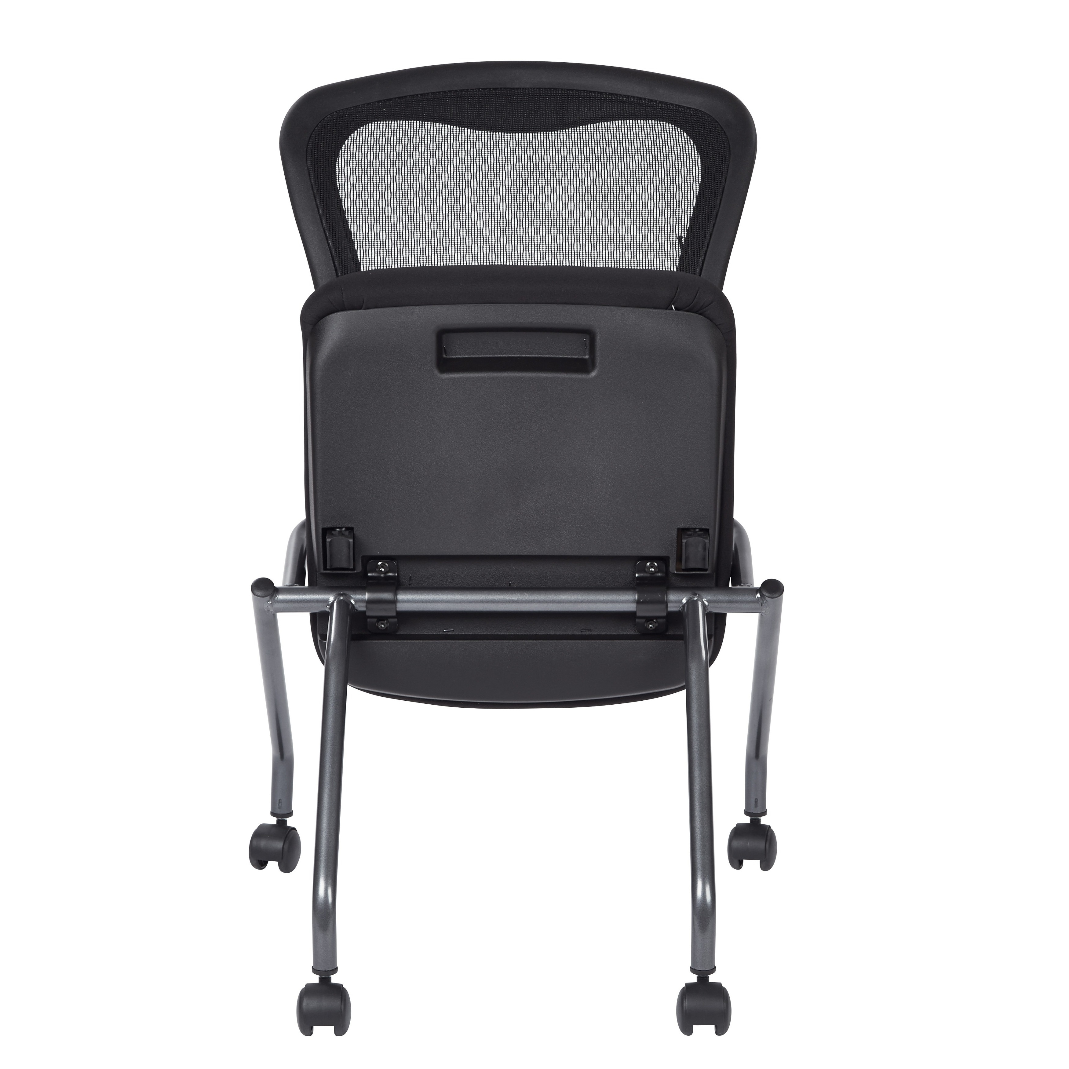 armless folding chair yoga shop pro line ii breathable padded pack of 2 n a free shipping today overstock com 7986423