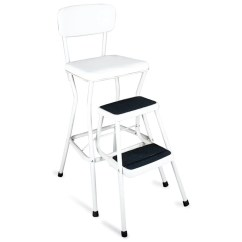 Chair Stool Retro Pictures Of Barber Chairs Shop Cosco White Counter Step Free Shipping