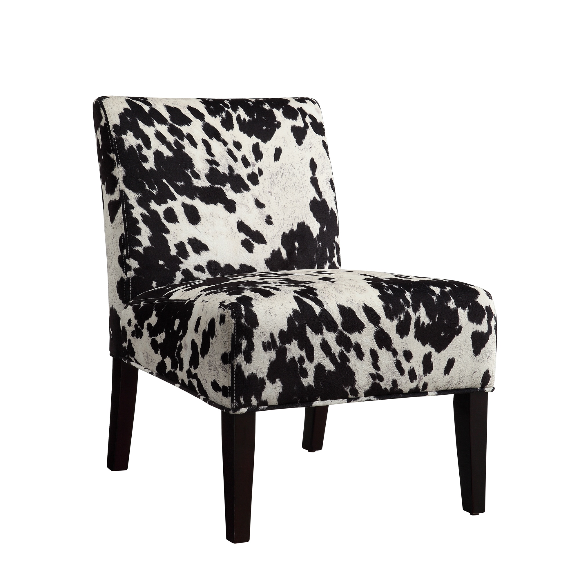 Cow Hide Chair Black And White Faux Cow Hide Fabric Accent Chair By Inspire Q Bold