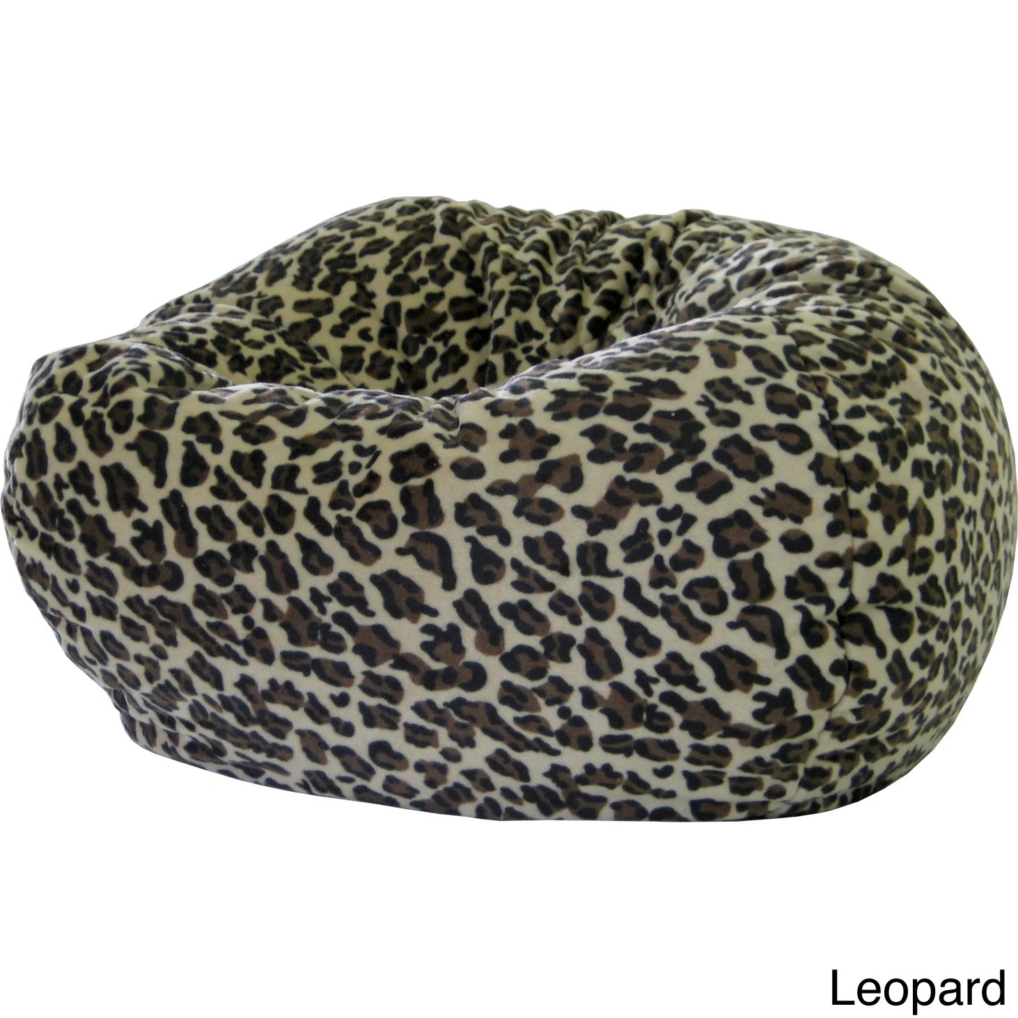 cheetah print bean bag chair gray lounge shop xxl safari micro fiber suede animal on sale free shipping today overstock com 8176879