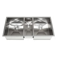 Triple Kitchen Sink Ikea Table Set Shop 42 Inch Bowl Undermount Zero Radius Free Shipping Today Overstock Com 8198222