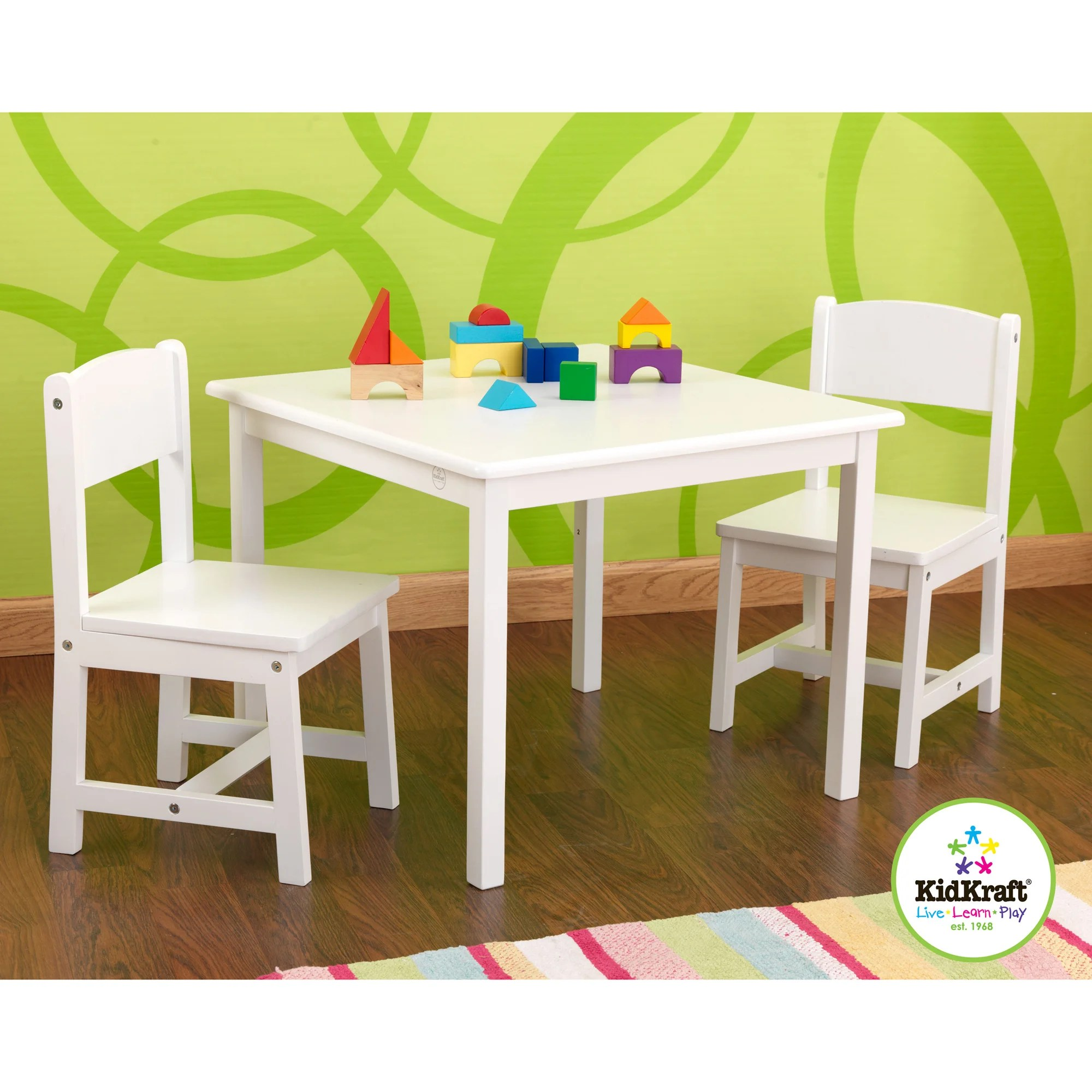kidkraft white table and chairs wicker chair that hangs from ceiling shop aspen set free shipping today overstock com 8264958