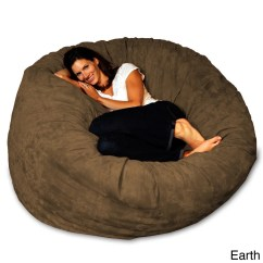 Foam Bean Bag Chair Wing Back Recliner Slipcover Shop 5 Foot Memory On Sale Free Shipping Today Overstock Com 8486912