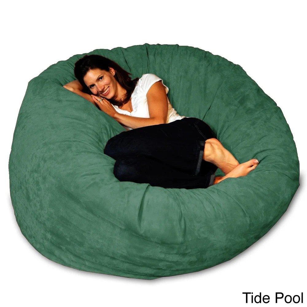 green bean bag chair fabric swivel and footstool shop 5 foot memory foam on sale free shipping today overstock com 8486912