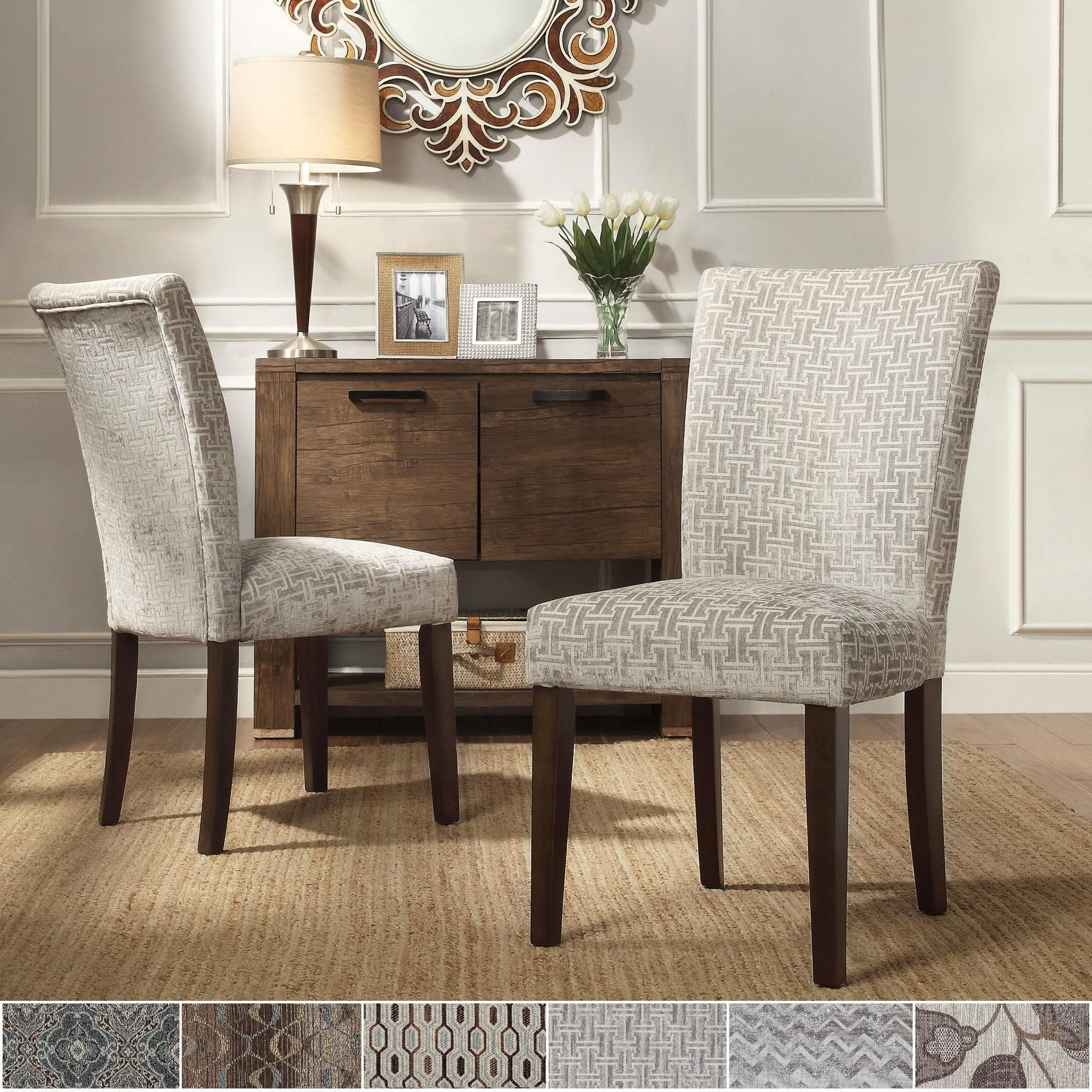 Dining Room Chair Sets Catherine Print Parsons Dining Side Chair Set Of 2 By Inspire Q Bold