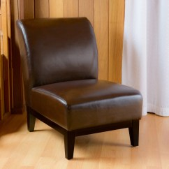 Brown Slipper Chair Office For Sciatica Nerve Pain Shop Darcy Leather By Christopher Knight Home On Sale Free Shipping Today Overstock Com 8557482