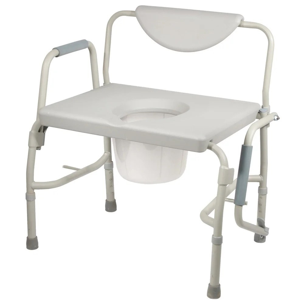 Bedside Commode Chair Drive Medical Bariatric Drop Arm Bedside Commode Chair