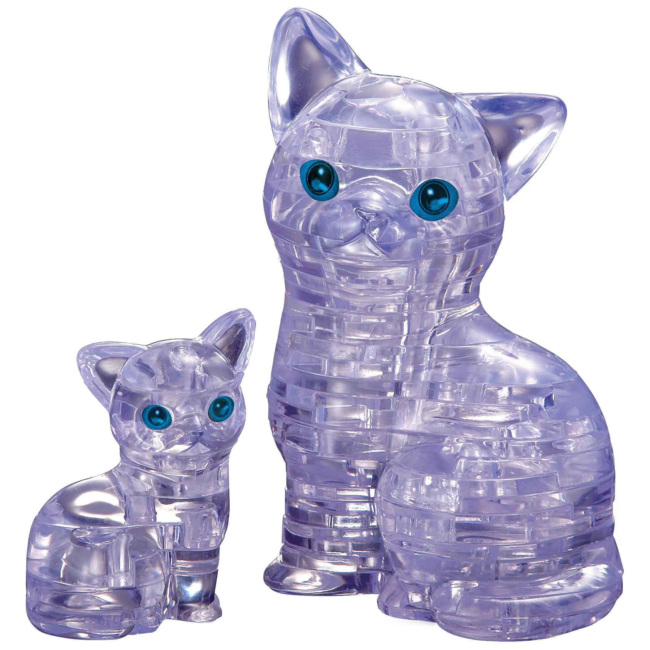 3d crystal cat with