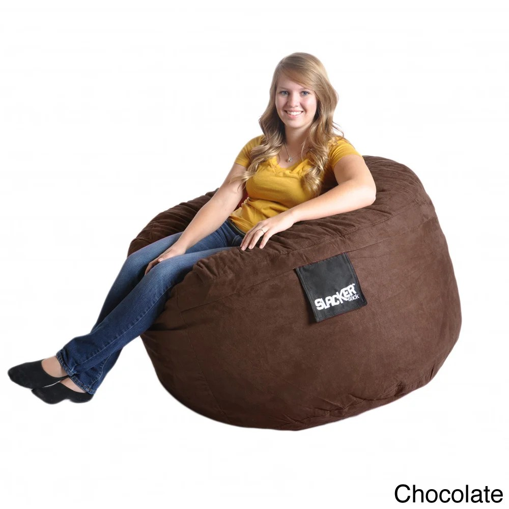 Bean Bag Chair Covers Only Slacker Sack 4 Foot Round Microfiber Suede Large Foam Bean Bag Chair Cover