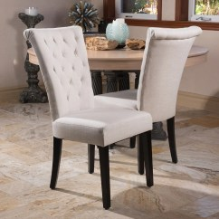 Beige Dining Chairs Tell City Pattern 4526 Shop Venetian Tufted Set Of 2 By Christopher Knight Home