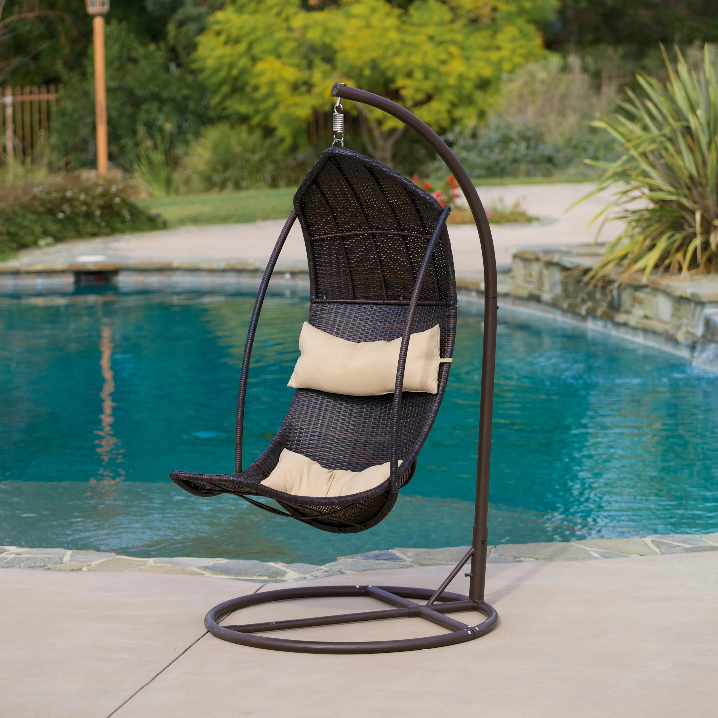 Outside Lounge Chairs Outdoor Brown Wicker Lounge Chair By Christopher Knight Home