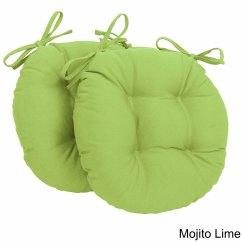 Lime Green Chair Pads Shower Lowes Shop Blazing Needles Tufted Twill Round Cushions Set Of 2 On Sale Free Shipping Orders Over 45 Overstock Com 8816426