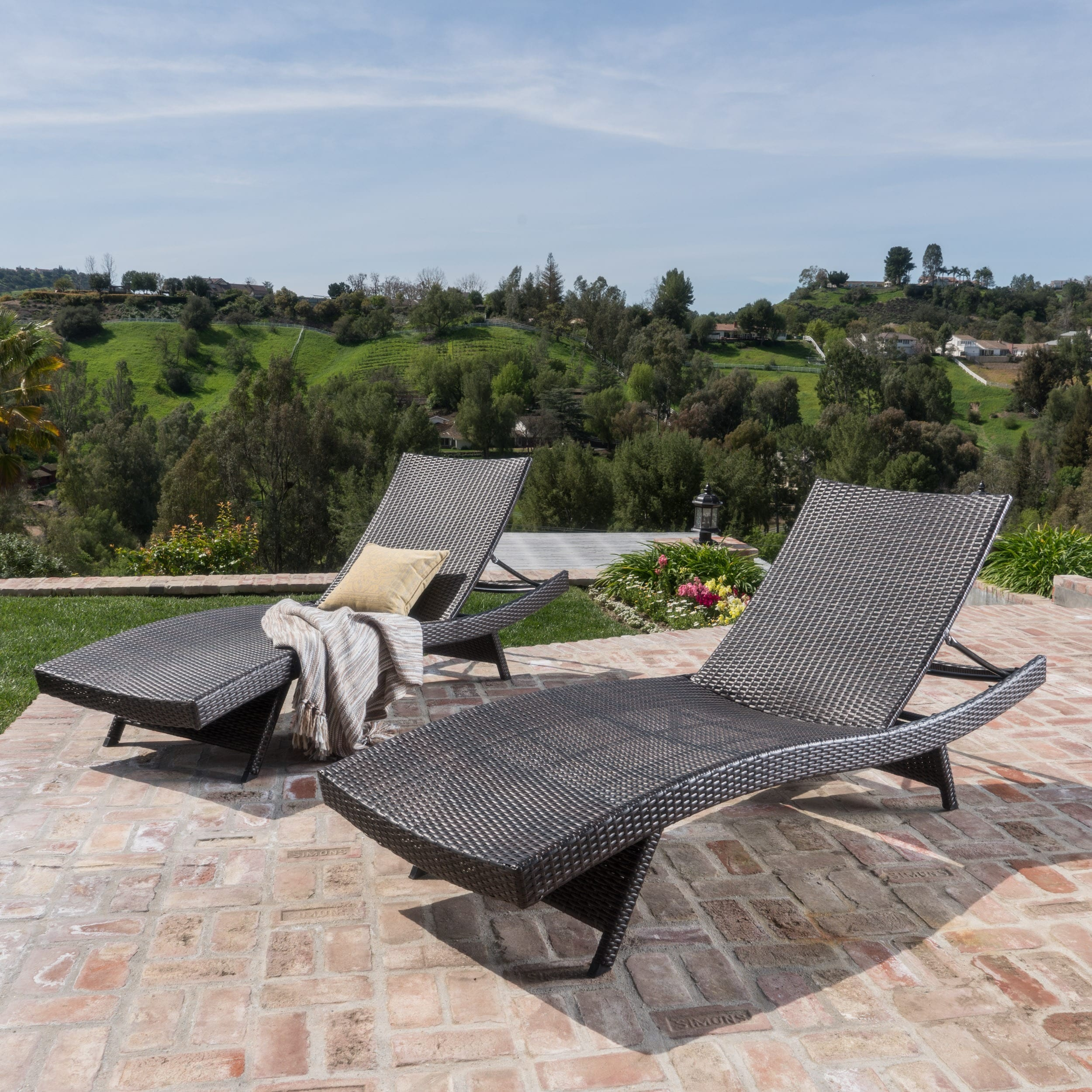 Outside Lounge Chairs Havenside Home Vilano Outdoor Lounge Chairs Set Of 2