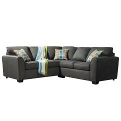 Grey Tweed Sectional Sofa Bonded Leather Sleeper Shop Furniture Of America Playan Free