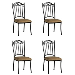 Wrought Iron Dining Chairs Chair Table Rental Shop Somette Antique Taupe Suede Set Of 4 Free Shipping Today Overstock Com 8912737