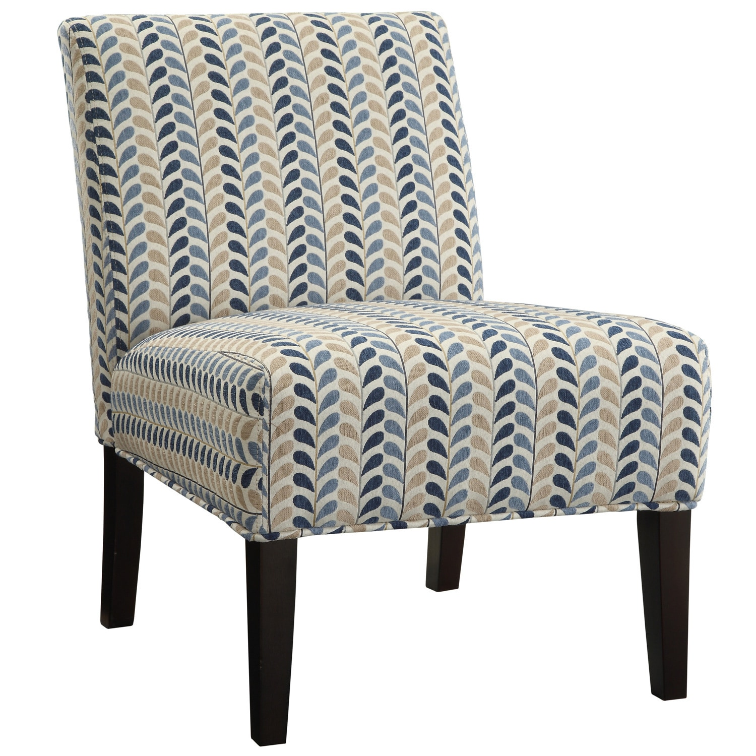 blue pattern accent chair swivel set shop coaster company and beige leaf armless free shipping today overstock com 8976218