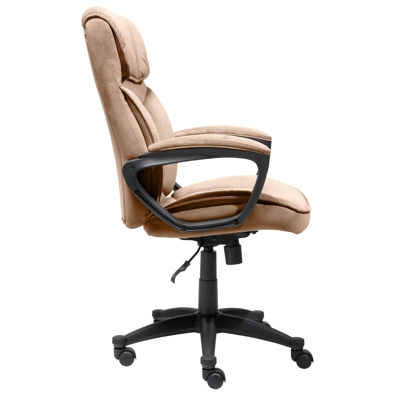 microfiber office chair dining slipcovers shop serta light coffee executive free shipping today overstock com 9066791