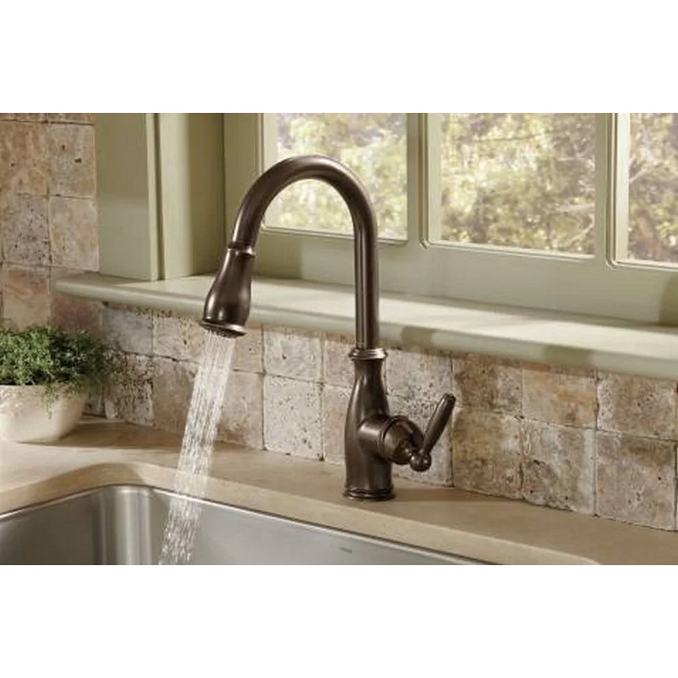 oil bronze kitchen faucet the latest gadgets shop moen brantford rubbed free shipping today overstock com 9089869
