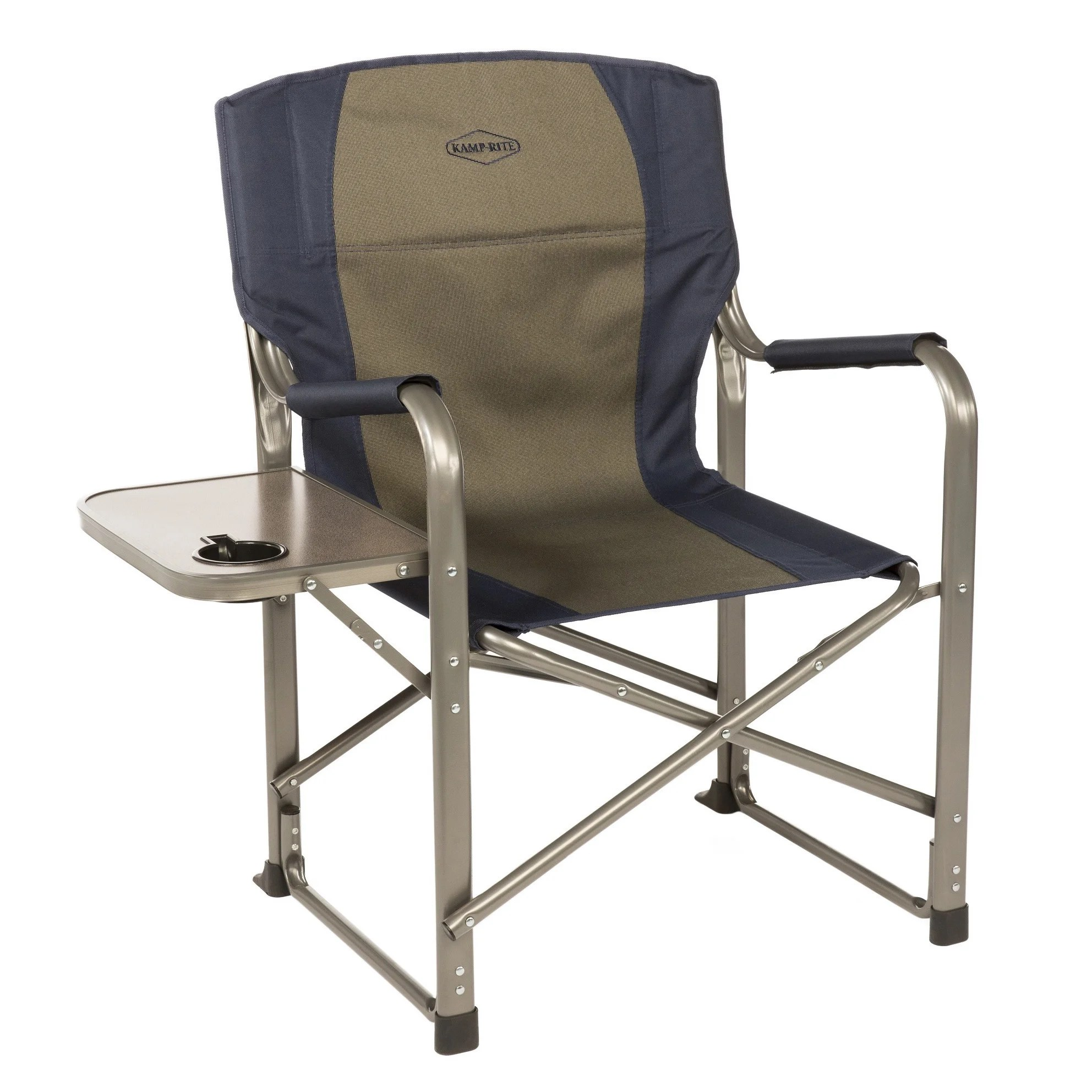 Folding Directors Chair With Side Table Kamp Rite Navy Blue Taupe Director S Chair With Side Table