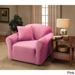 Pink Slipcover Chair Sleeper Sofa Shop Stretch Jersey Free Shipping On Orders Over 45 Overstock Com 9128282