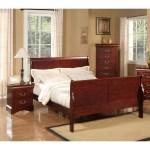 Alpine Furniture Louis Philippe Ii Sleigh Bed Cherry On Sale Overstock 9160316