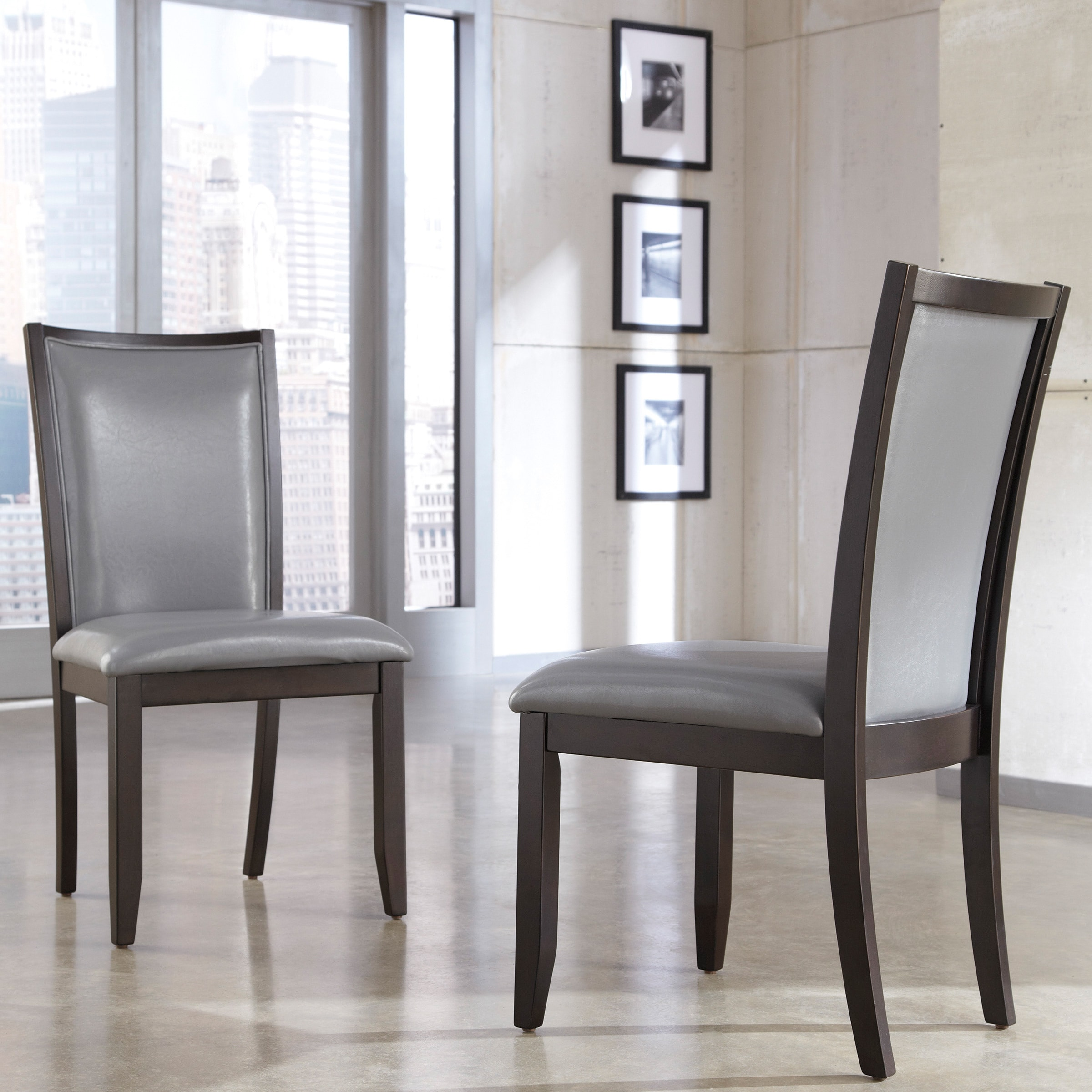 grey dining chairs fishing chair spare legs shop signature designs by ashley trishelle upholstered set of 2 free shipping today overstock com 9217091