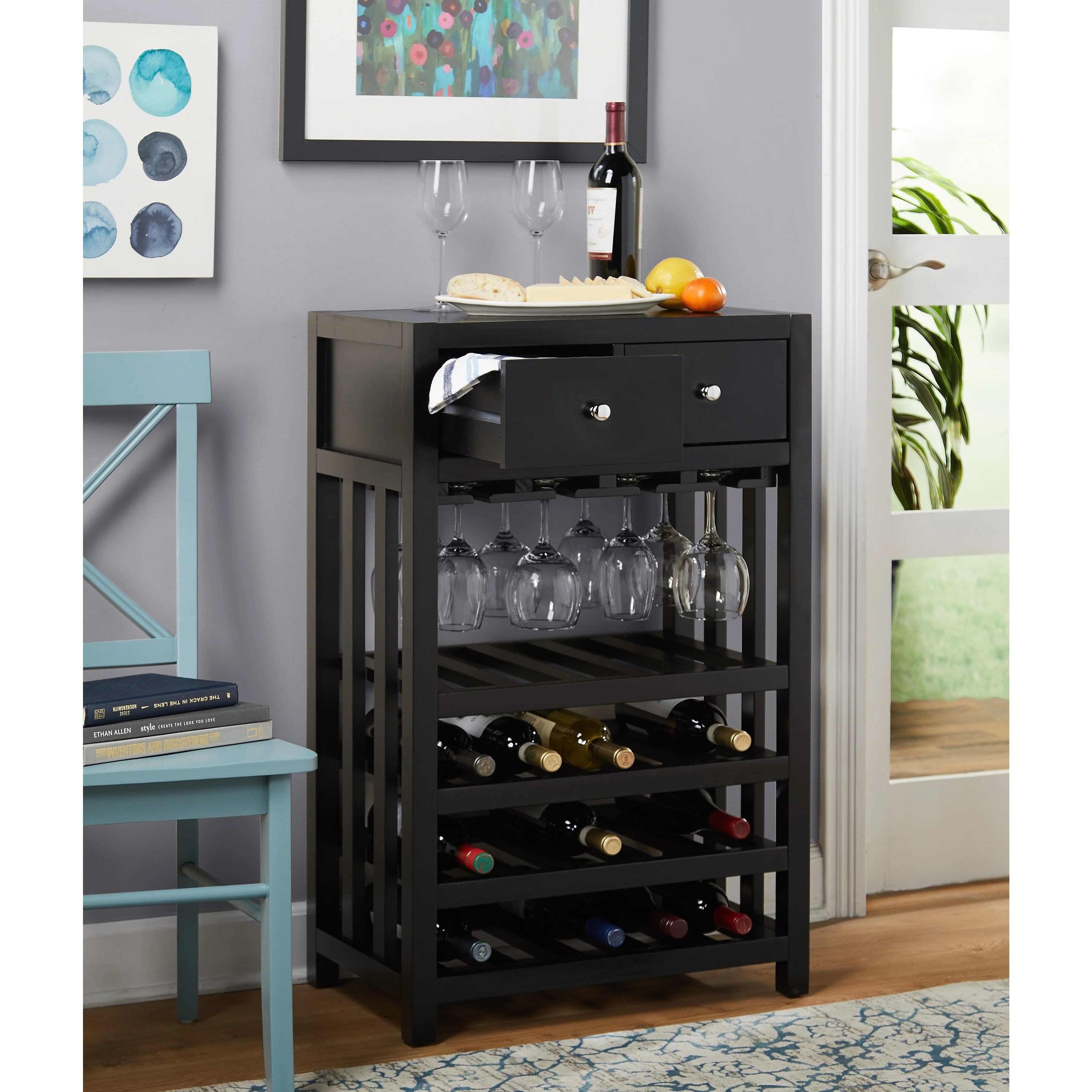 can you put a wine rack in living room decorating on budget shop simple napa wood 20 bottle tower free shipping today overstock 9321048