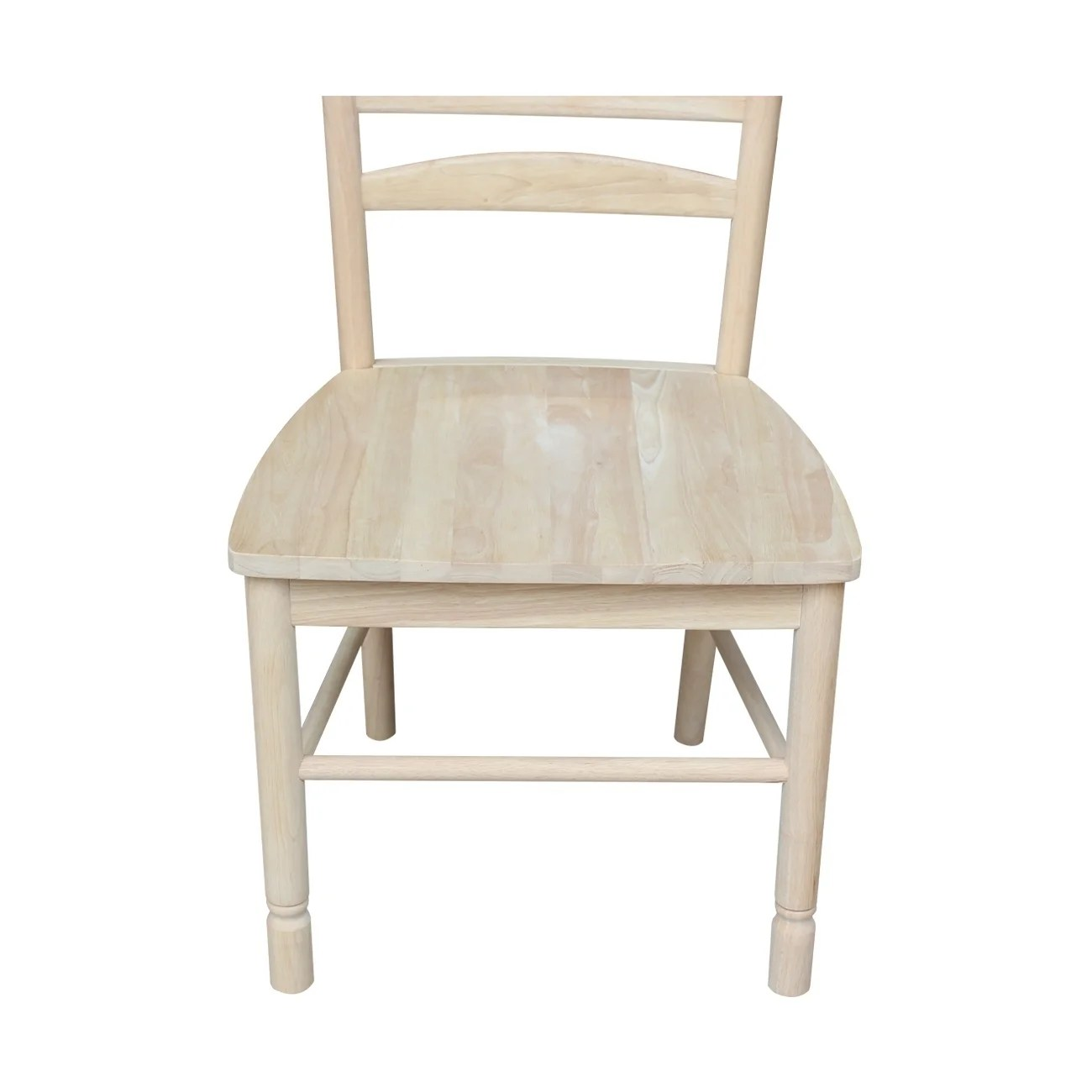 unfinished ladder back chairs pier one swivel chair shop international concepts solid parawood bedford ladderback set of 2 free shipping today overstock com 9346223