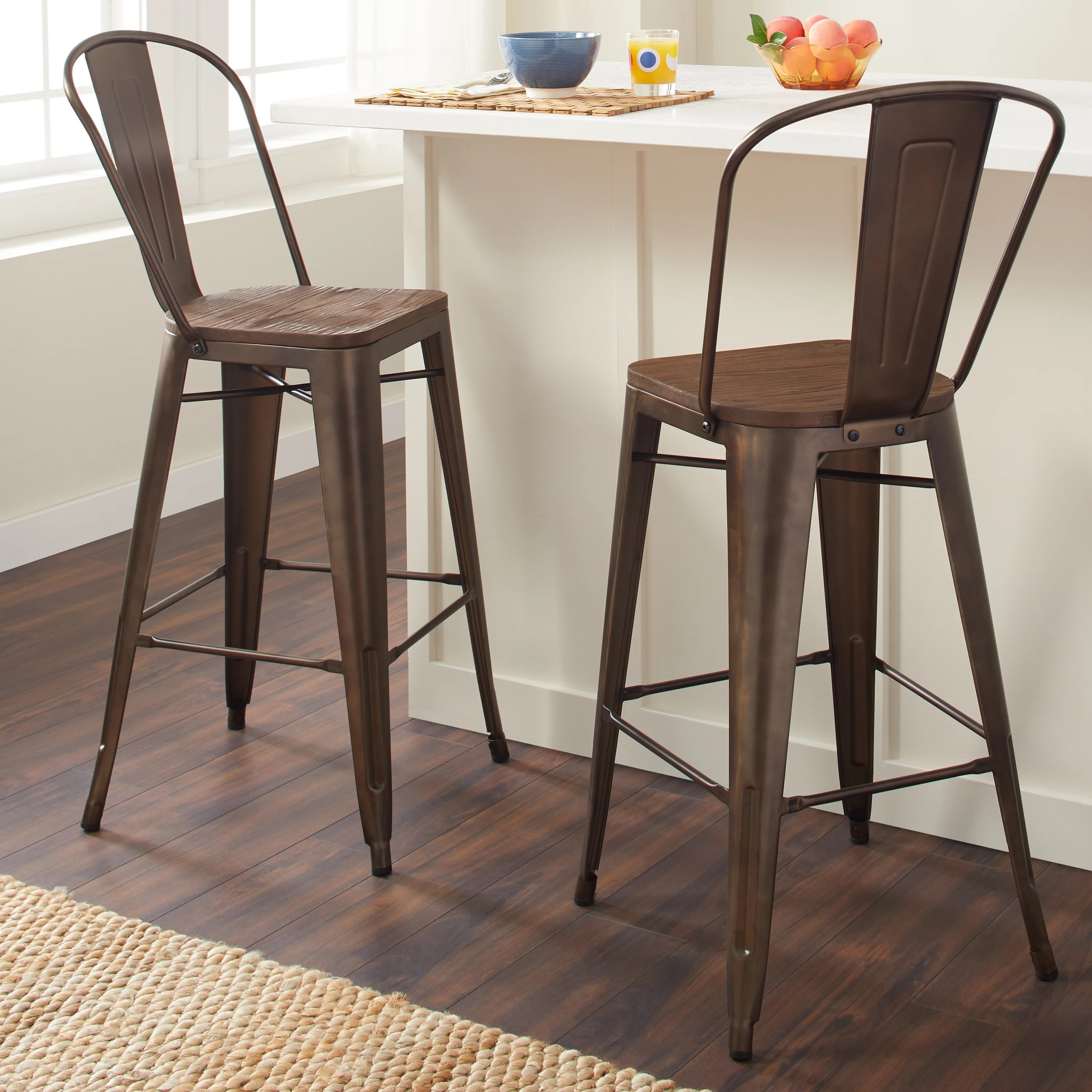 bar stool chair rung protectors rentals in md www topsimages com shop tabouret inch bistro wood seat vintage finish stools set of on sale free shipping