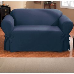 One Arm Sofa Slipcover Chenille Sofas For Sale Shop Quickcover Duck Piece Relaxed Fit With Ties Free Shipping Today Overstock Com 9425787