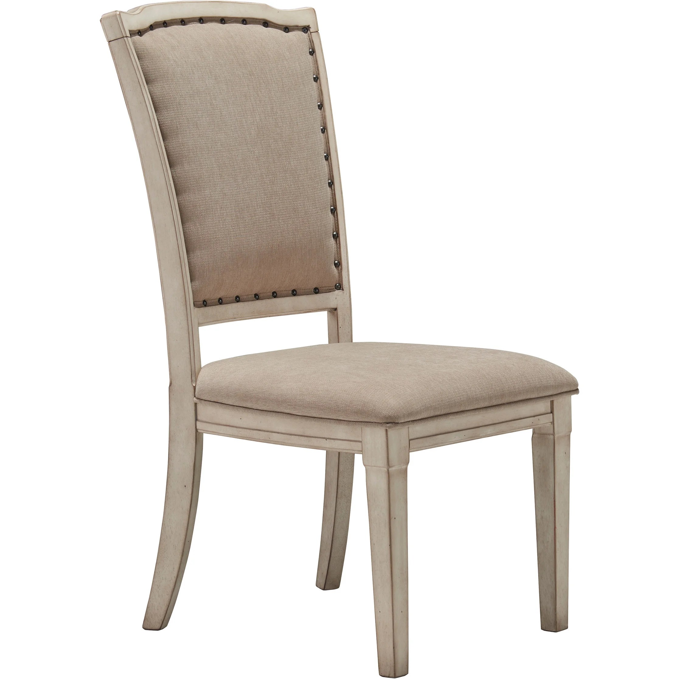 white upholstered chairs shoe shine chair manufacturers shop signature design by ashley demarlos parchment dining set of 2 free shipping today overstock com 9605417