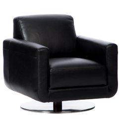 Natuzzi Swivel Chair Modern White Leather Club Shop Siena Black Italian Free Shipping Today Overstock Com 9616627
