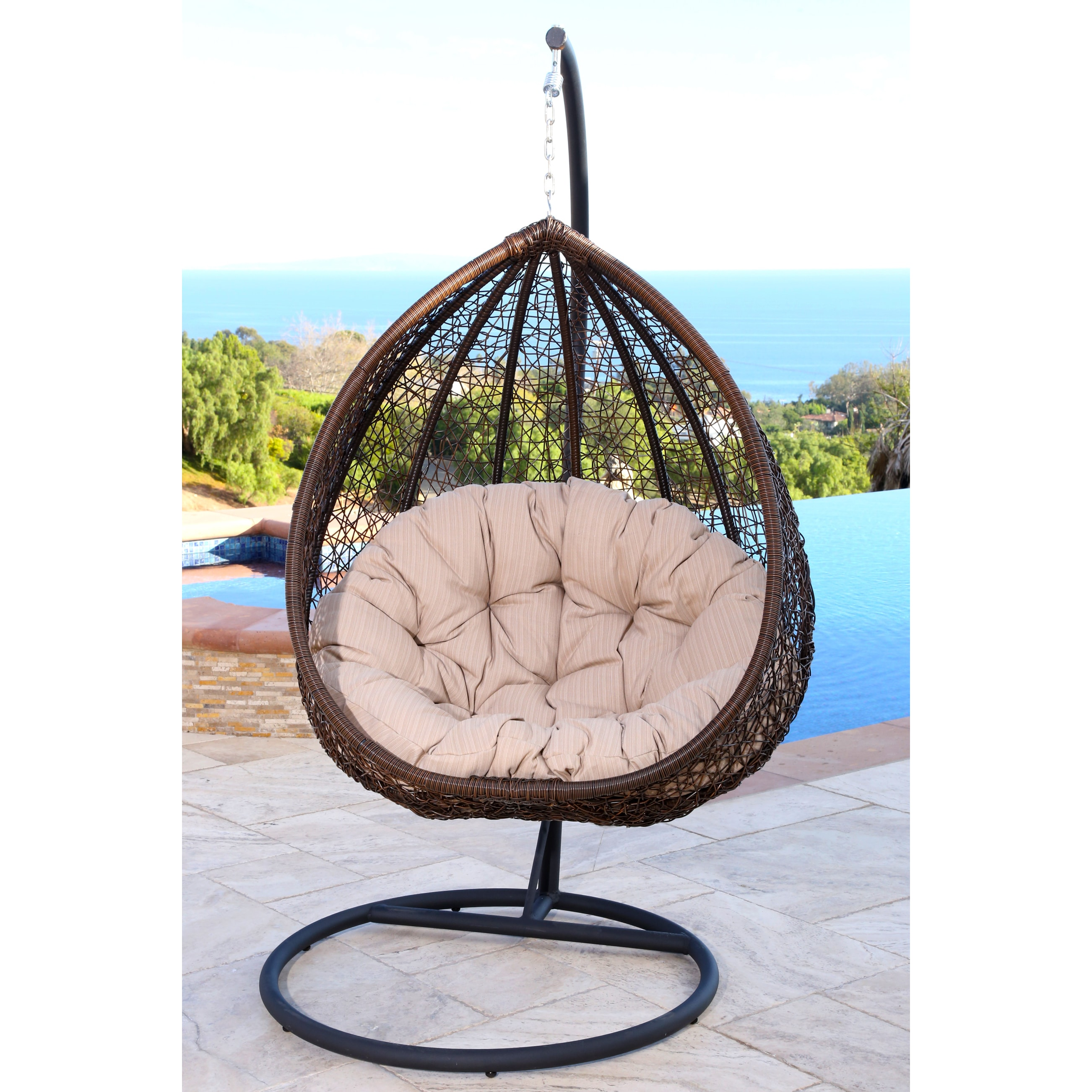swing chair pics little rocking chairs for toddlers shop abbyson newport outdoor wicker free shipping