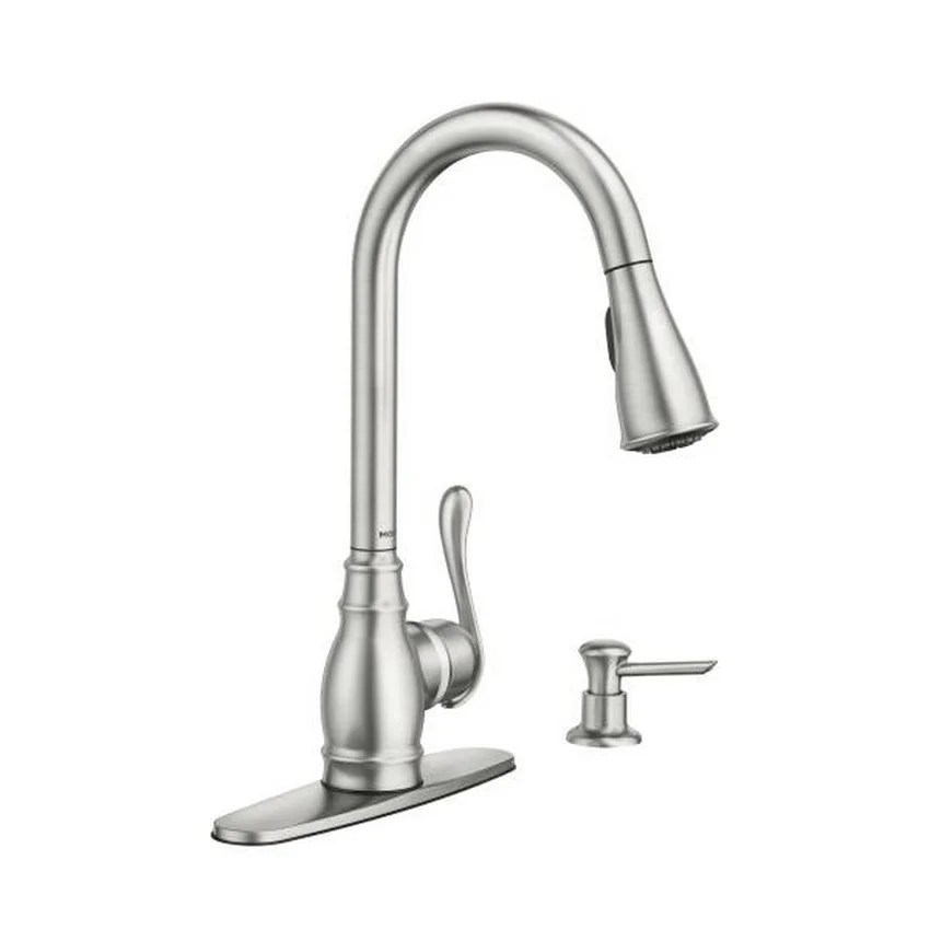 stainless kitchen faucet dishes shop moen anabelle ca87003srs spot resist steel free shipping today overstock com 9815673