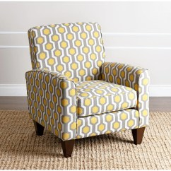 Yellow And Grey Chair Swivel Ergonomics Shop Abbyson Living Conway Pattern Fabric Armchair Free Shipping Today Overstock Com 9836392