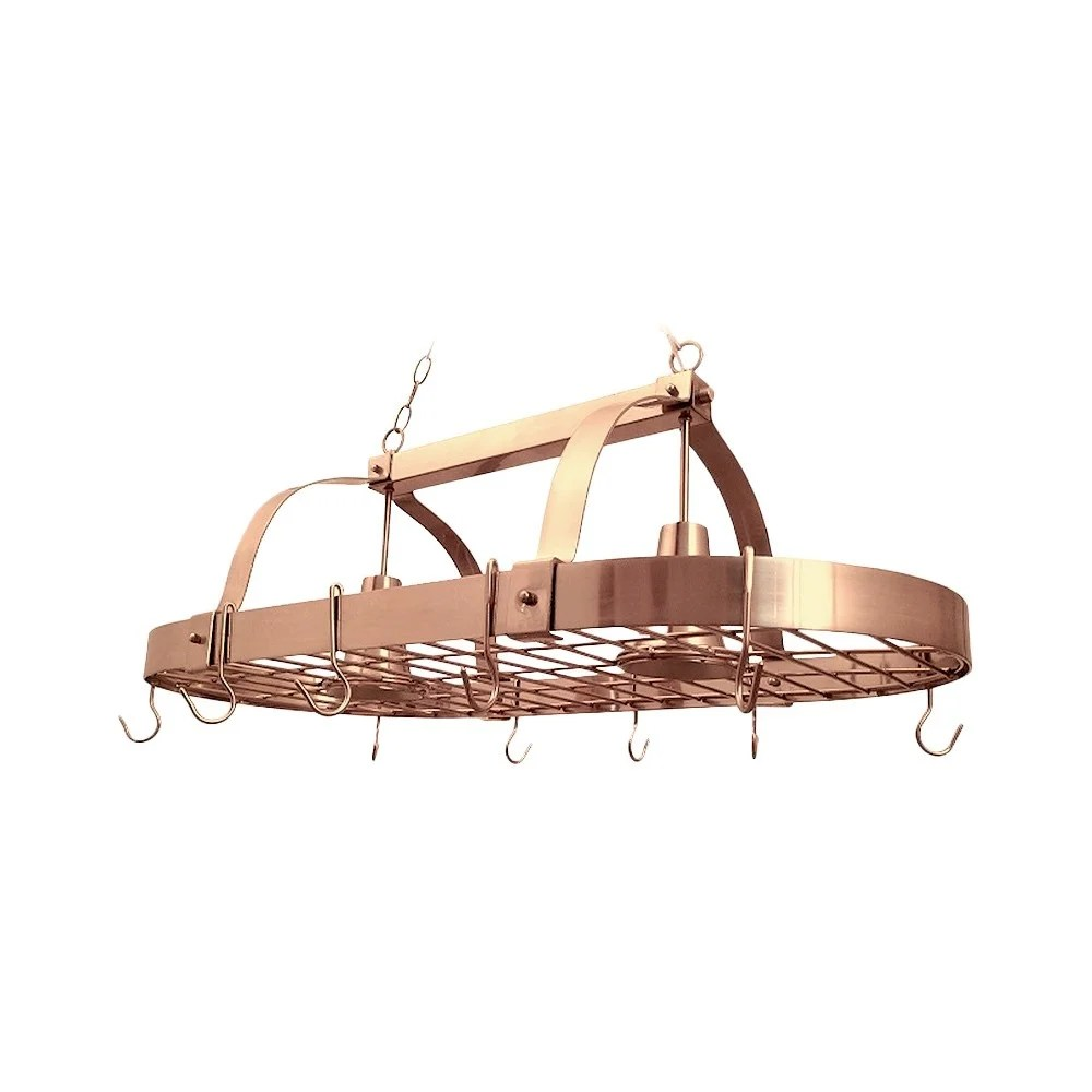 kitchen pot rack cabinet designs shop elegant home collection 2 light on