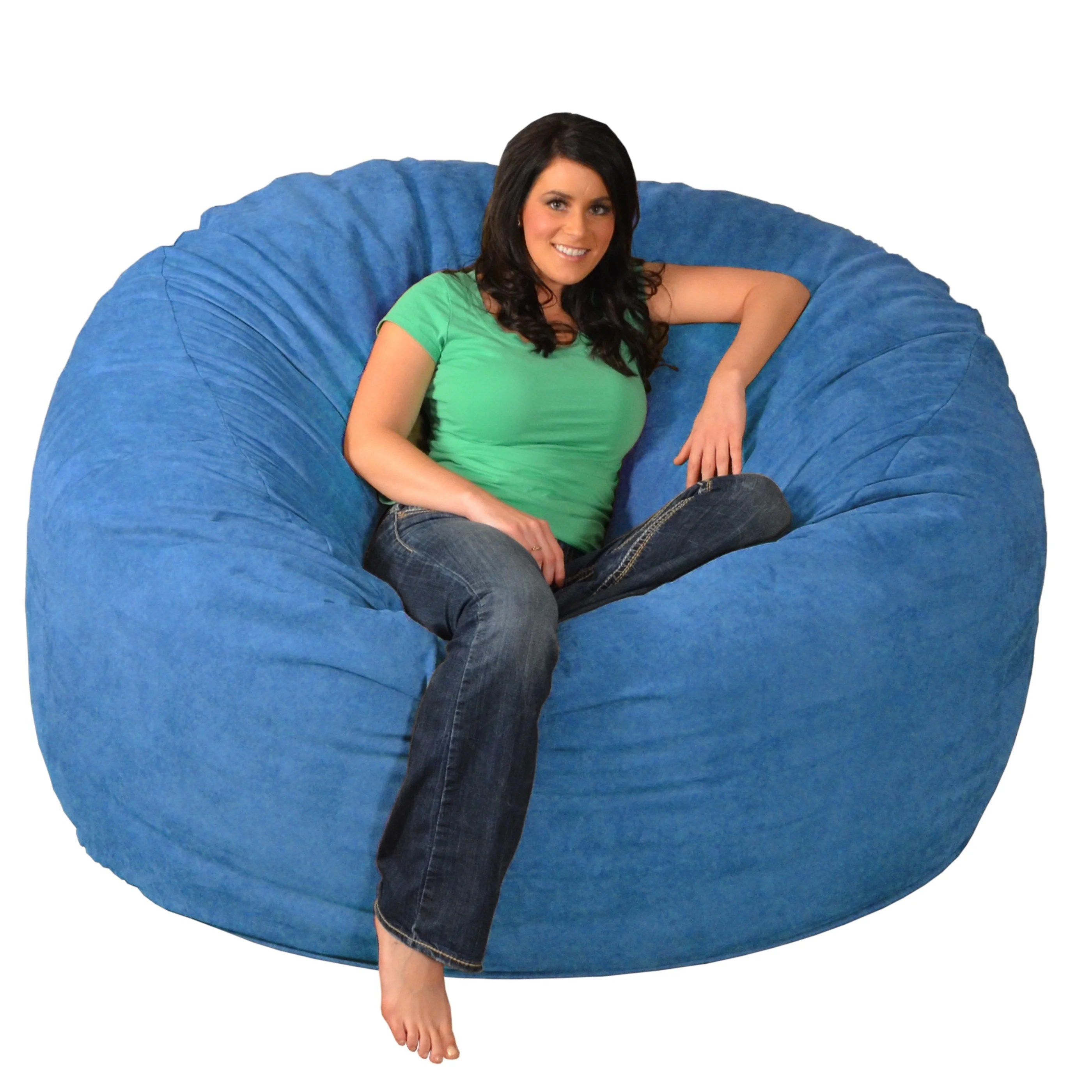 Bean Bags Chair Giant Memory Foam Bean Bag 6 Foot Chair