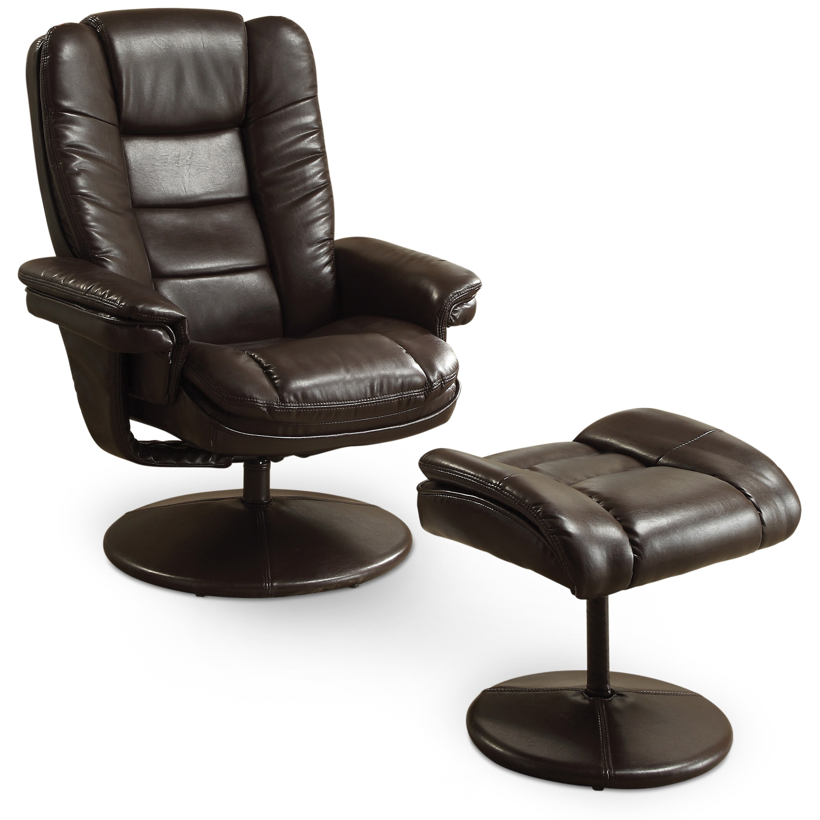 Leather Chair And Ottoman Art Van Walsh Reclining Chair Ottoman