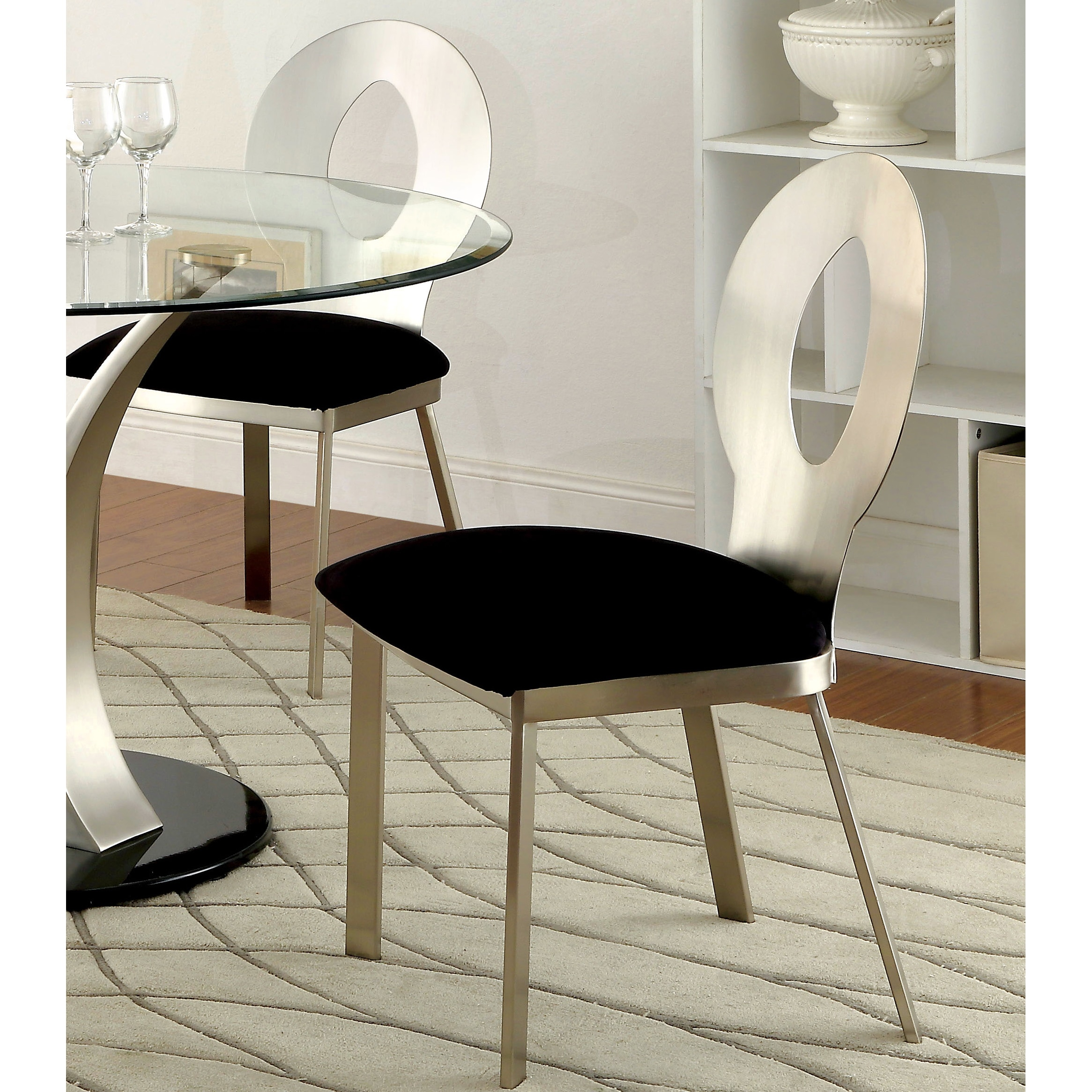 Silver Dining Chairs Sculpture Iii Contemporary Silver Dining Chair By Foa