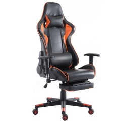 Recliner Gaming Chair Swivel Parts Canada Shop Costway High Back Racing Office W Lumbar Support Footrest Orange And Black