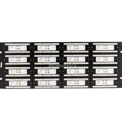 shop monoprice 96 port cat6 patch panel 110 type 568a b compatible free shipping today overstock com 19114359 [ 900 x 900 Pixel ]