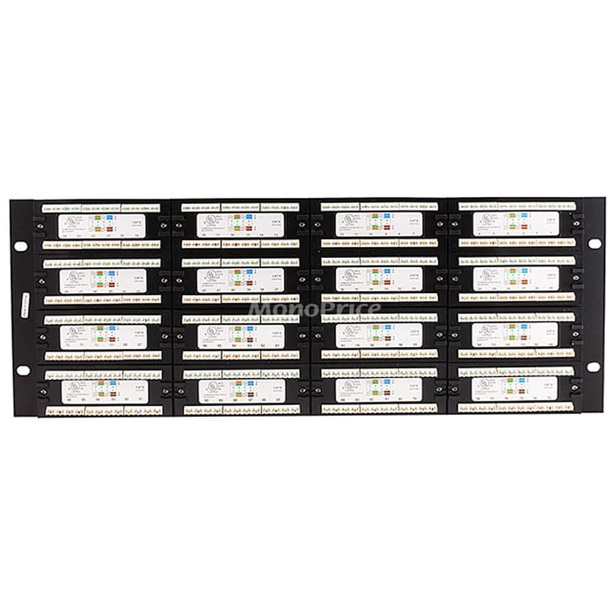 hight resolution of shop monoprice 96 port cat6 patch panel 110 type 568a b compatible free shipping today overstock com 19114359